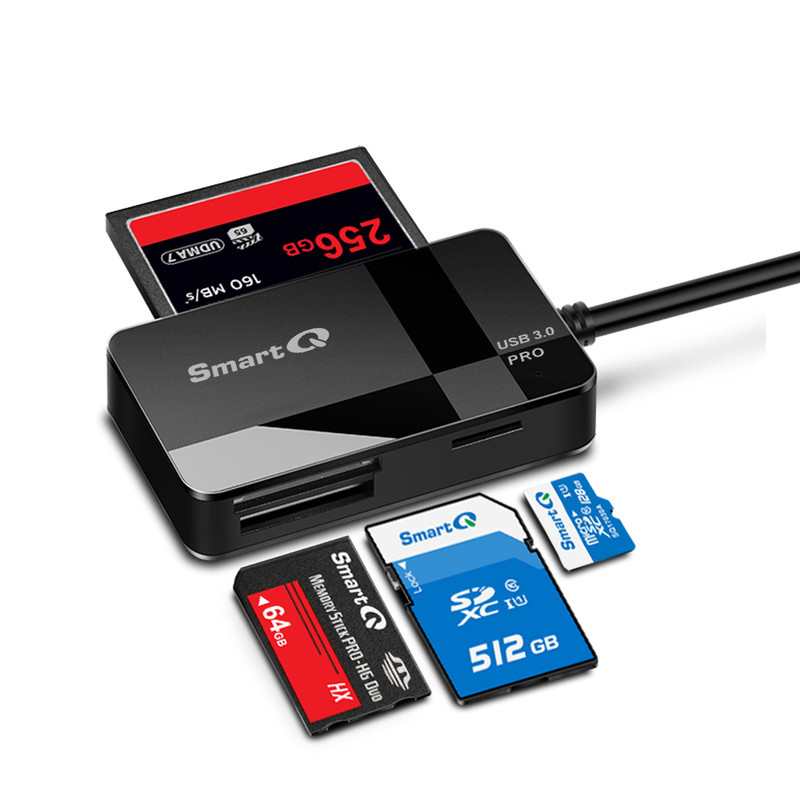 Read and Write TWO memory cards simultaneously  C368 USB 3.0 Multi-Card Reader, Plug N Play, Apple and Windows Compatible, Powered by USB, Supports CF/SD/SDHC/SCXC/MMC/MMC Micro, etc.