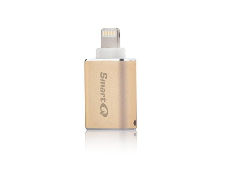 C620 Gold Lightning MicroSD Card Reader