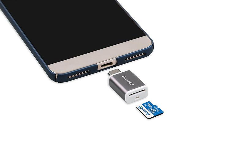 SmartQ C352 Type-C MicroSD Card Reader OTG with USB 3.0 Super Speed technology