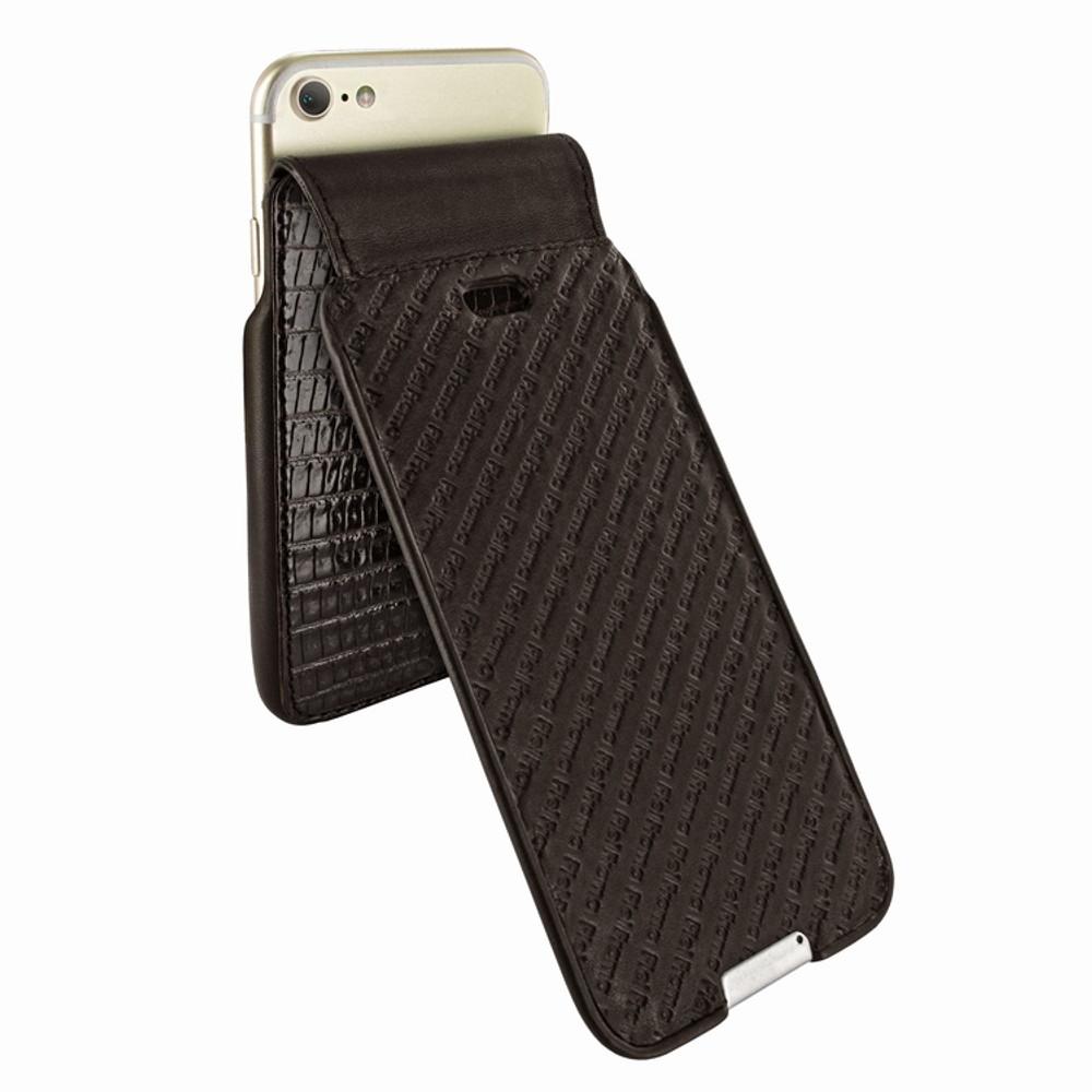 Piel Frama iPhone 6 / 6S / 7 / 8 UltraSliMagnum Leather Case - Brown Cowskin-Lizard