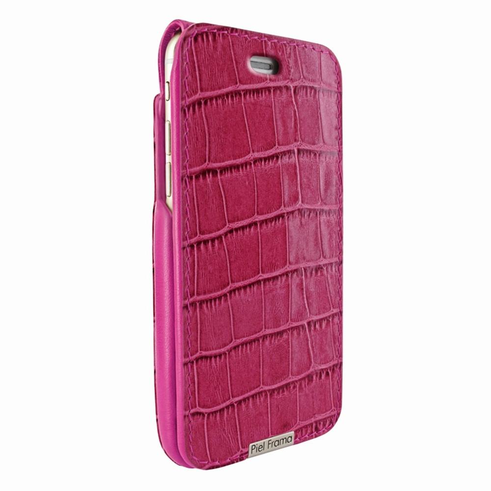 Piel Frama iPhone 6 / 6S / 7 / 8 UltraSliMagnum Leather Case - Fuchsia Cowskin-Crocodile