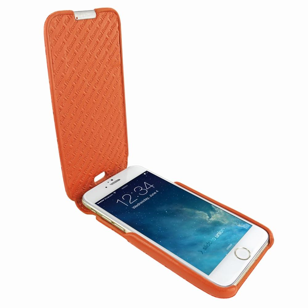 Piel Frama iPhone 6 / 6S / 7 / 8 UltraSliMagnum Leather Case - Orange Cowskin-Crocodile