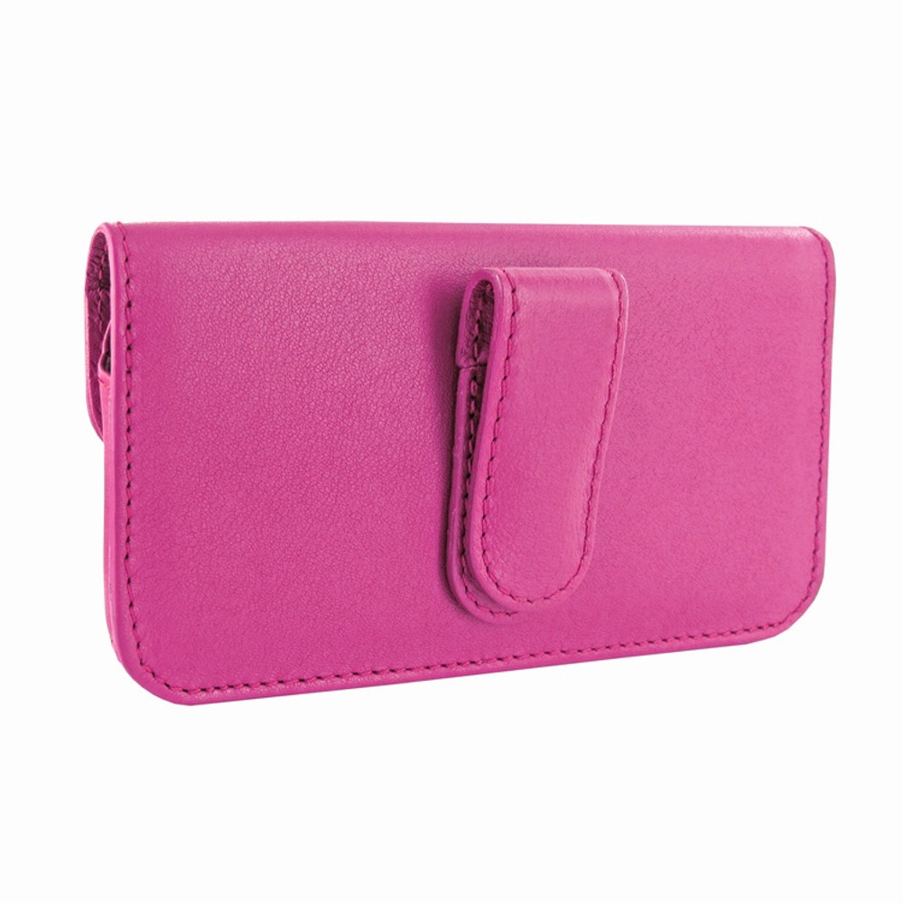 Piel Frama iPhone 6 Plus / 6S Plus / 7 Plus / 8 Plus Horizontal Pouch Leather Case - Fuchsia