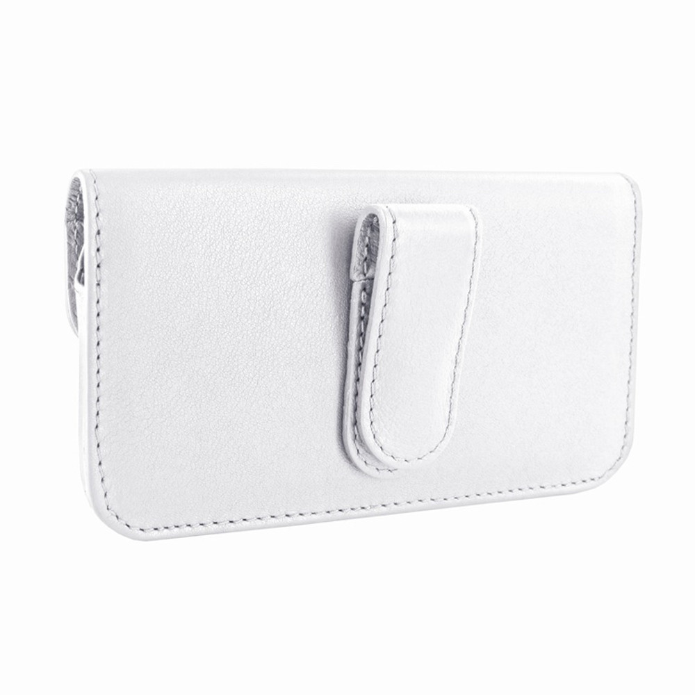 Piel Frama iPhone 6 Plus / 6S Plus / 7 Plus / 8 Plus Horizontal Pouch Leather Case - White