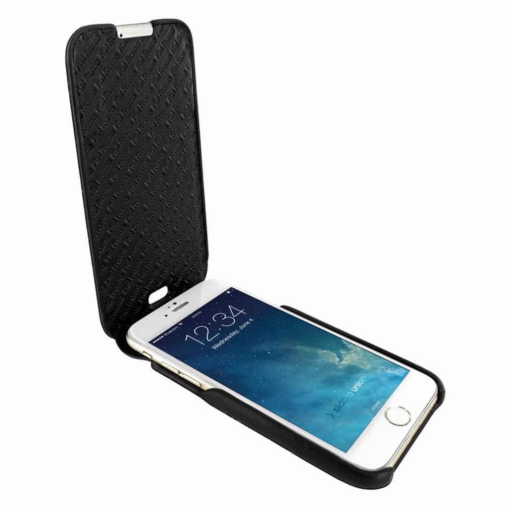 Piel Frama iPhone 6 Plus / 6S Plus / 7 Plus / 8 Plus UltraSliMagnum Leather Case - Black Cowskin-Lizard