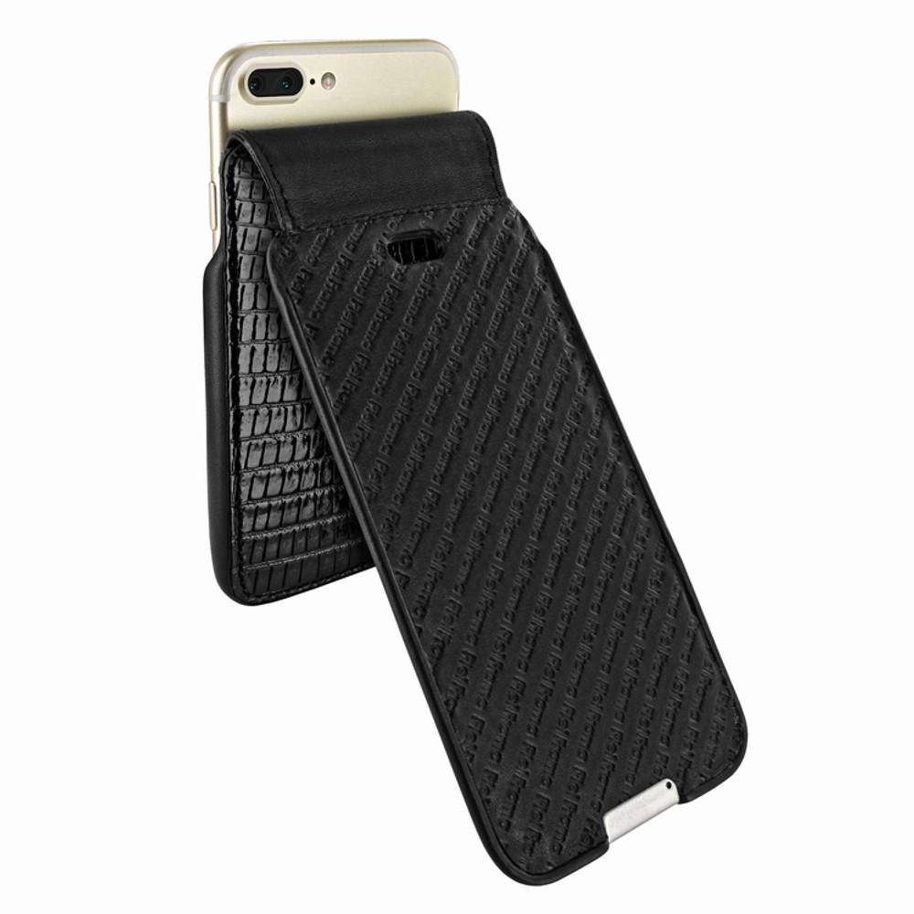 Piel Frama iPhone 6 Plus / 6S Plus / 7 Plus / 8 Plus UltraSliMagnum Leather Case - Black Cowskin-Lizard