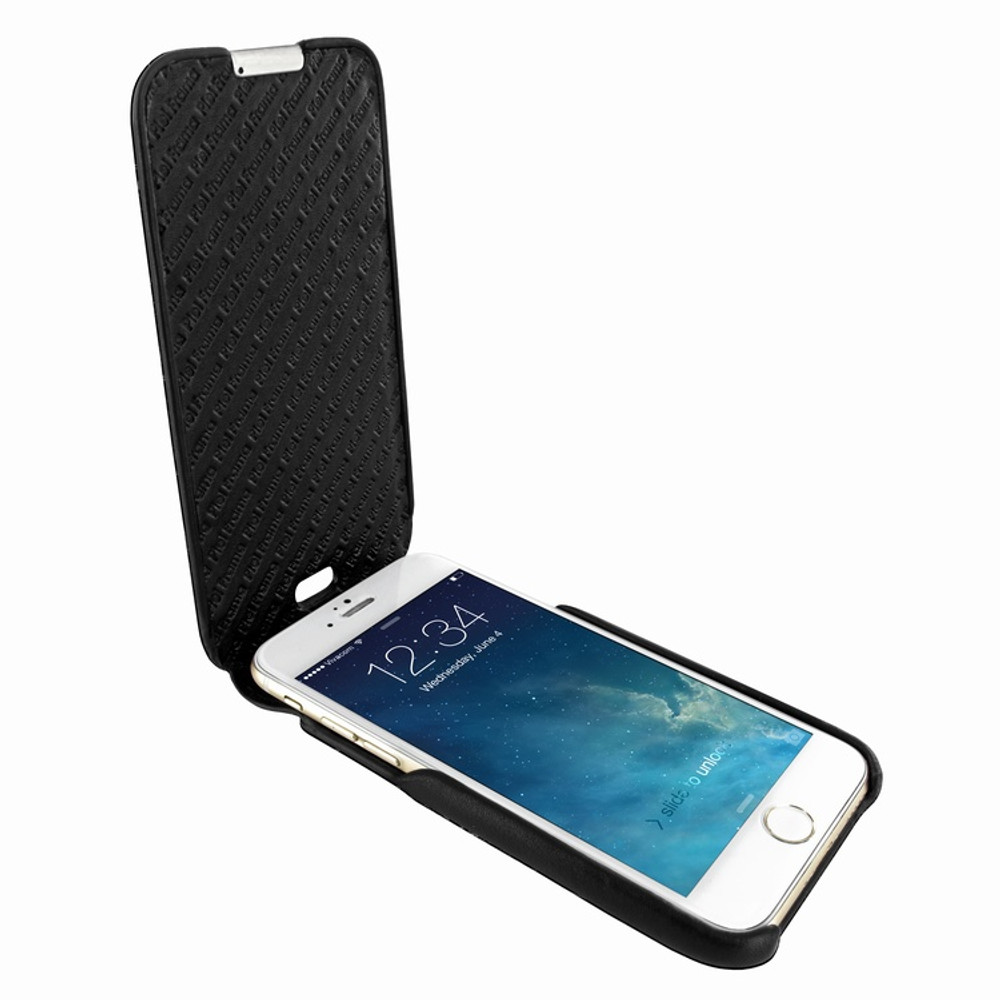 Piel Frama iPhone 6 Plus / 6S Plus / 7 Plus / 8 Plus UltraSliMagnum Leather Case - Black Cowskin-Ostrich