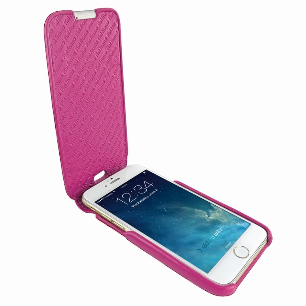 Piel Frama iPhone 6 Plus / 6S Plus / 7 Plus / 8 Plus UltraSliMagnum Leather Case - Fuchsia Cowskin-Crocodile