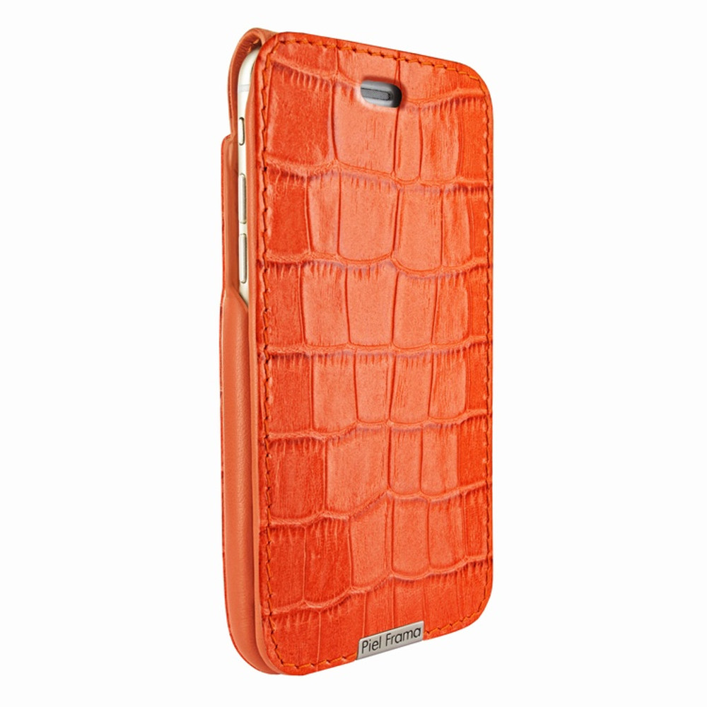 Piel Frama iPhone 6 Plus / 6S Plus / 7 Plus / 8 Plus UltraSliMagnum Leather Case - Orange Cowskin-Crocodile