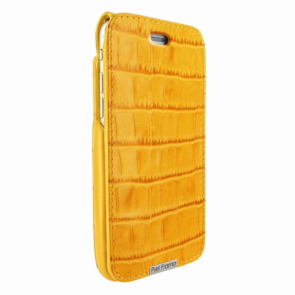 Piel Frama iPhone 6 Plus / 6S Plus / 7 Plus / 8 Plus UltraSliMagnum Leather Case - Yellow Cowskin-Crocodile