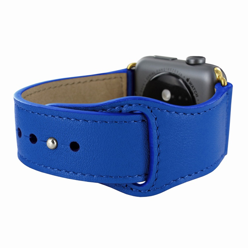 Piel Frama Apple Watch 38 mm Leather Strap - Blue / Gold Adapter