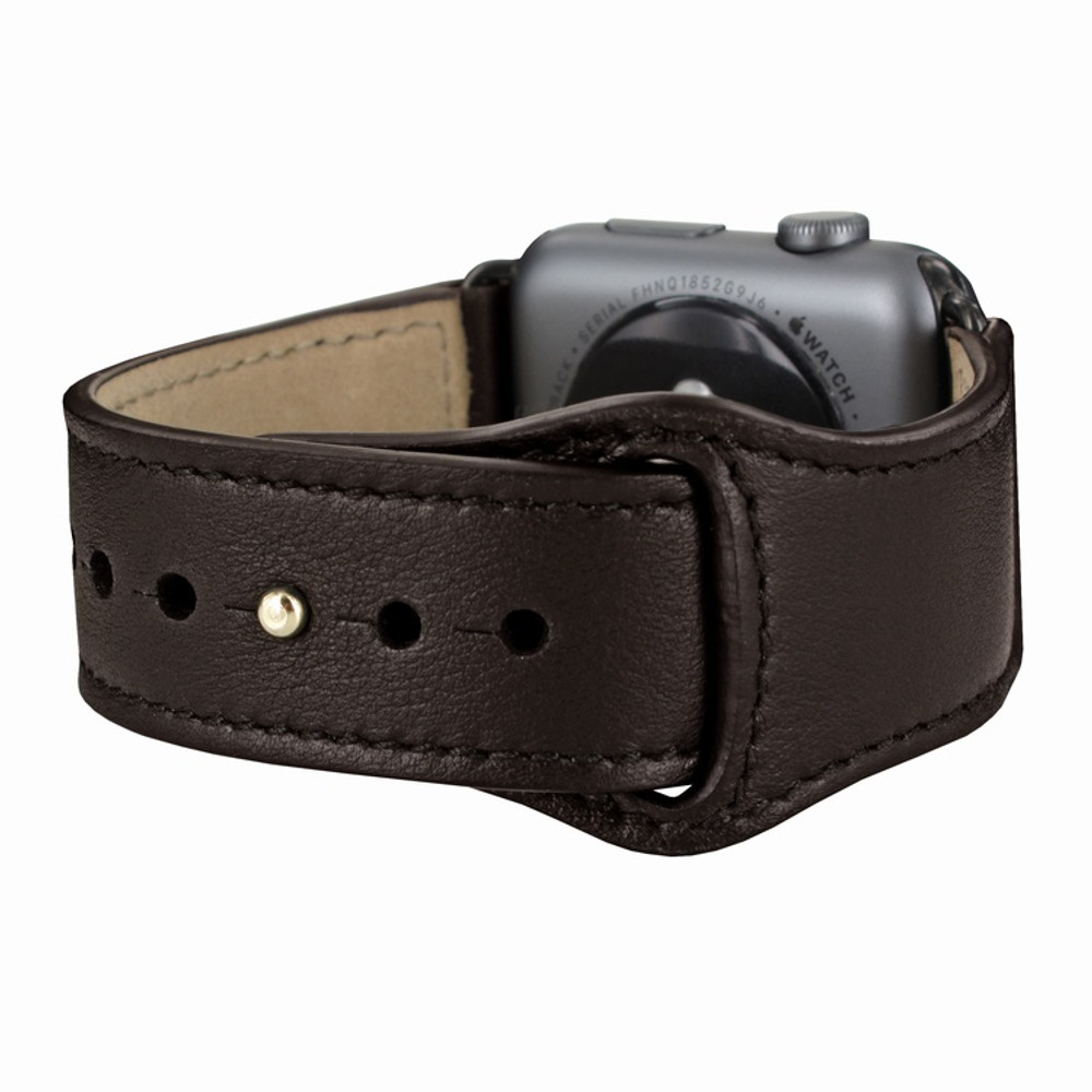Piel Frama Apple Watch 38 mm Leather Strap - Brown / Black Adapter