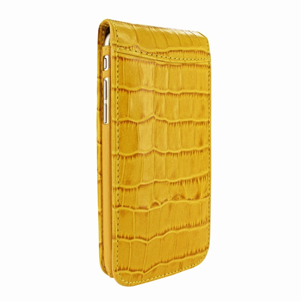 Piel Frama iPhone 7 / 8 Classic Magnetic Leather Case - Yellow Cowskin-Crocodile