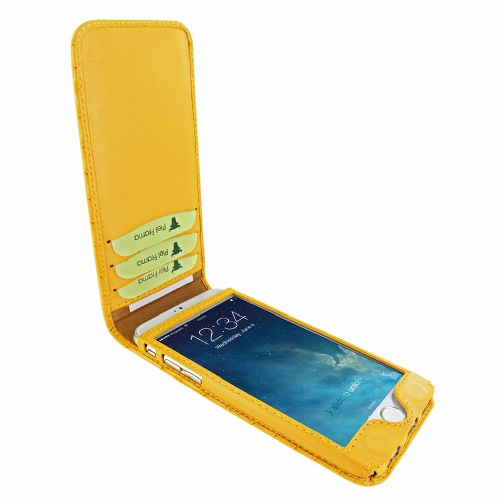Piel Frama iPhone 7 / 8 Classic Magnetic Leather Case - Yellow Cowskin-Crocodile