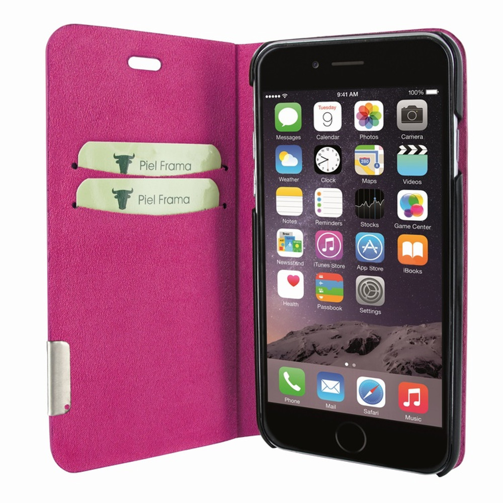 Piel Frama iPhone 7 / 8 FramaSlimCards Leather Case - Fuchsia