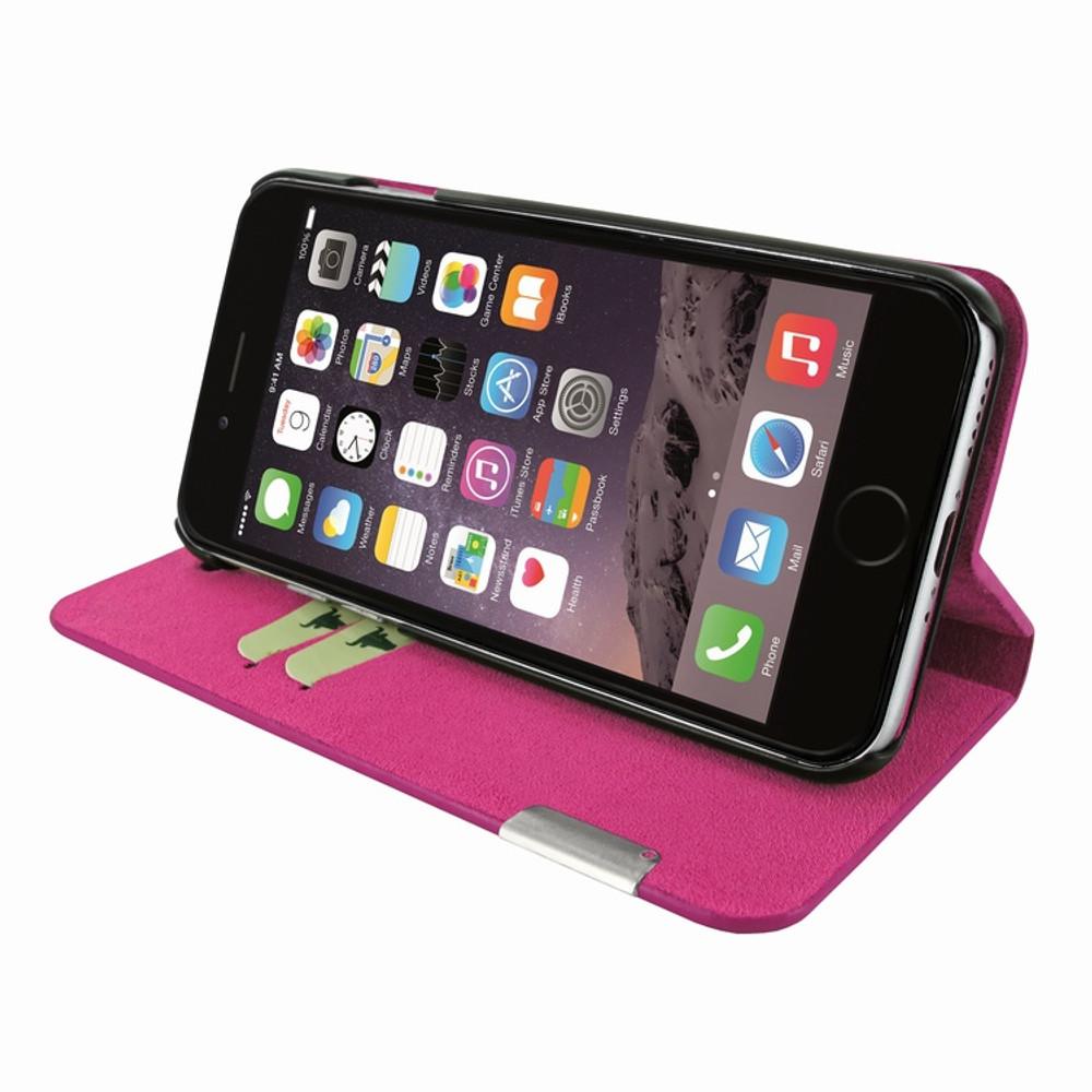 Piel Frama iPhone 7 / 8 FramaSlimCards Leather Case - Fuchsia