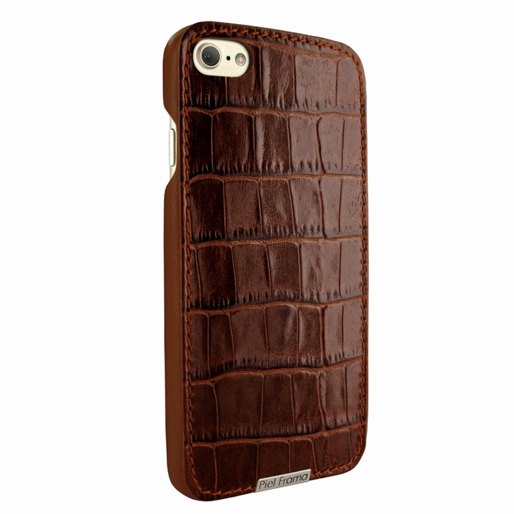 Piel Frama iPhone 7 / 8 FramaSlimGrip Leather Case - Brown Cowskin-Crocodile