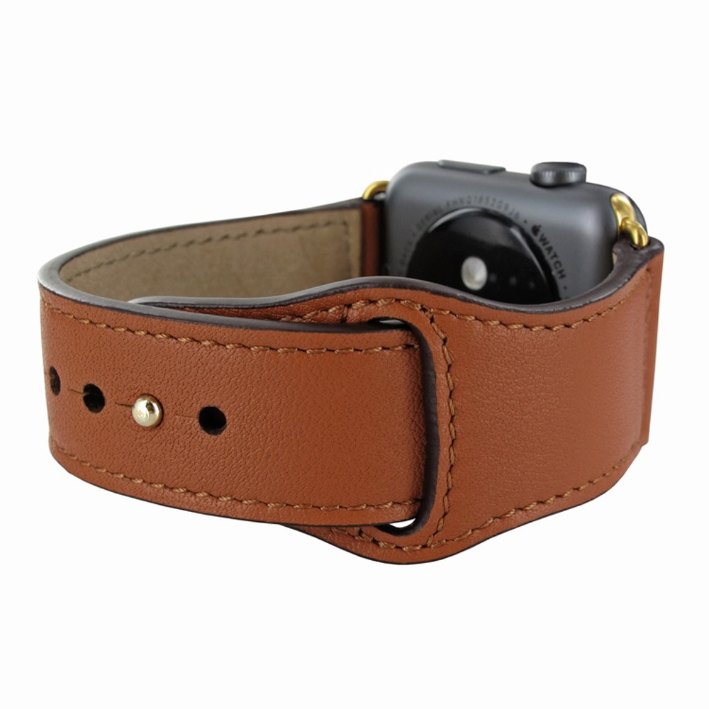 Piel Frama Apple Watch 38 mm Leather Strap - Tan / Gold Adapter