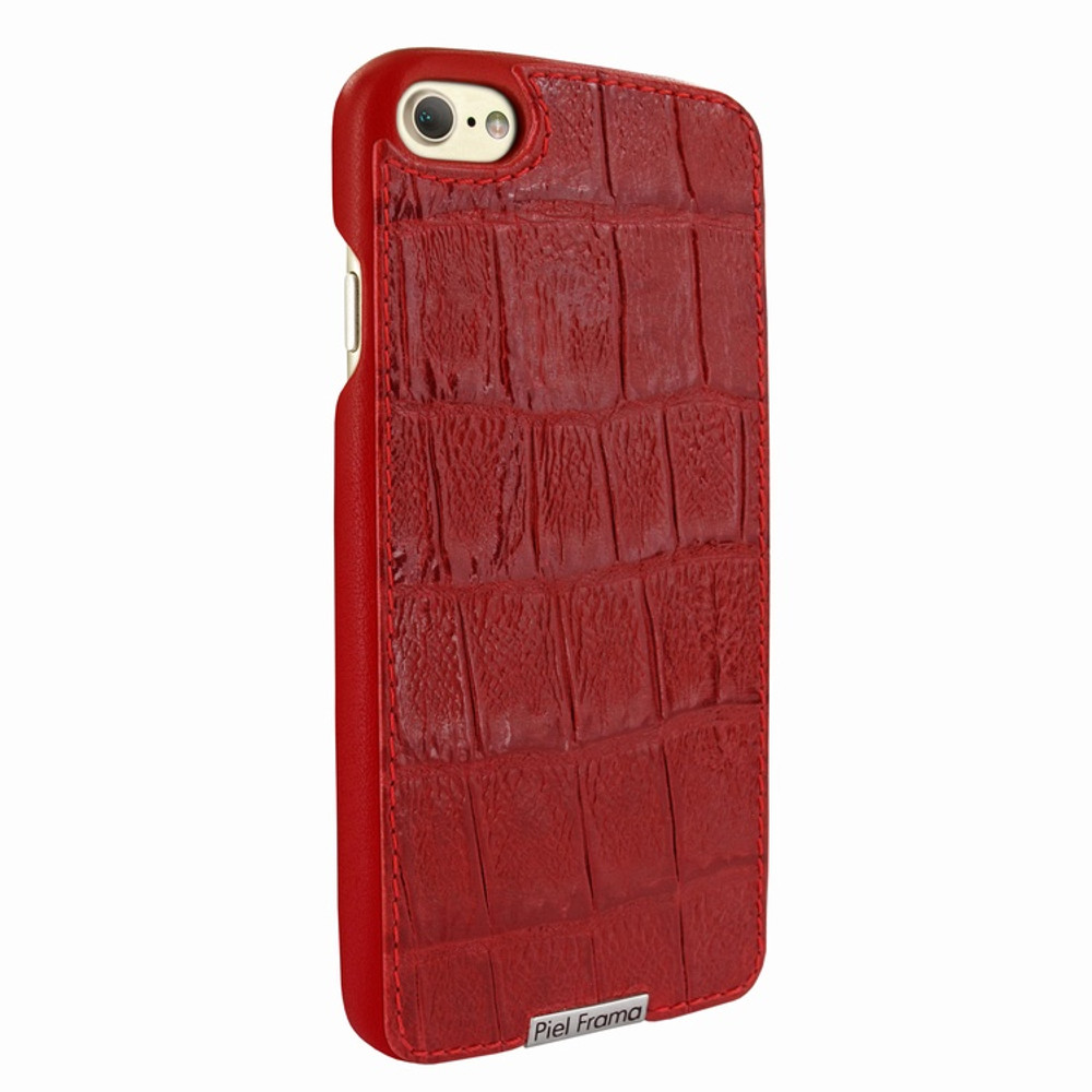 Piel Frama iPhone 7 / 8 FramaSlimGrip Leather Case - Red Wild Cowskin-Crocodile