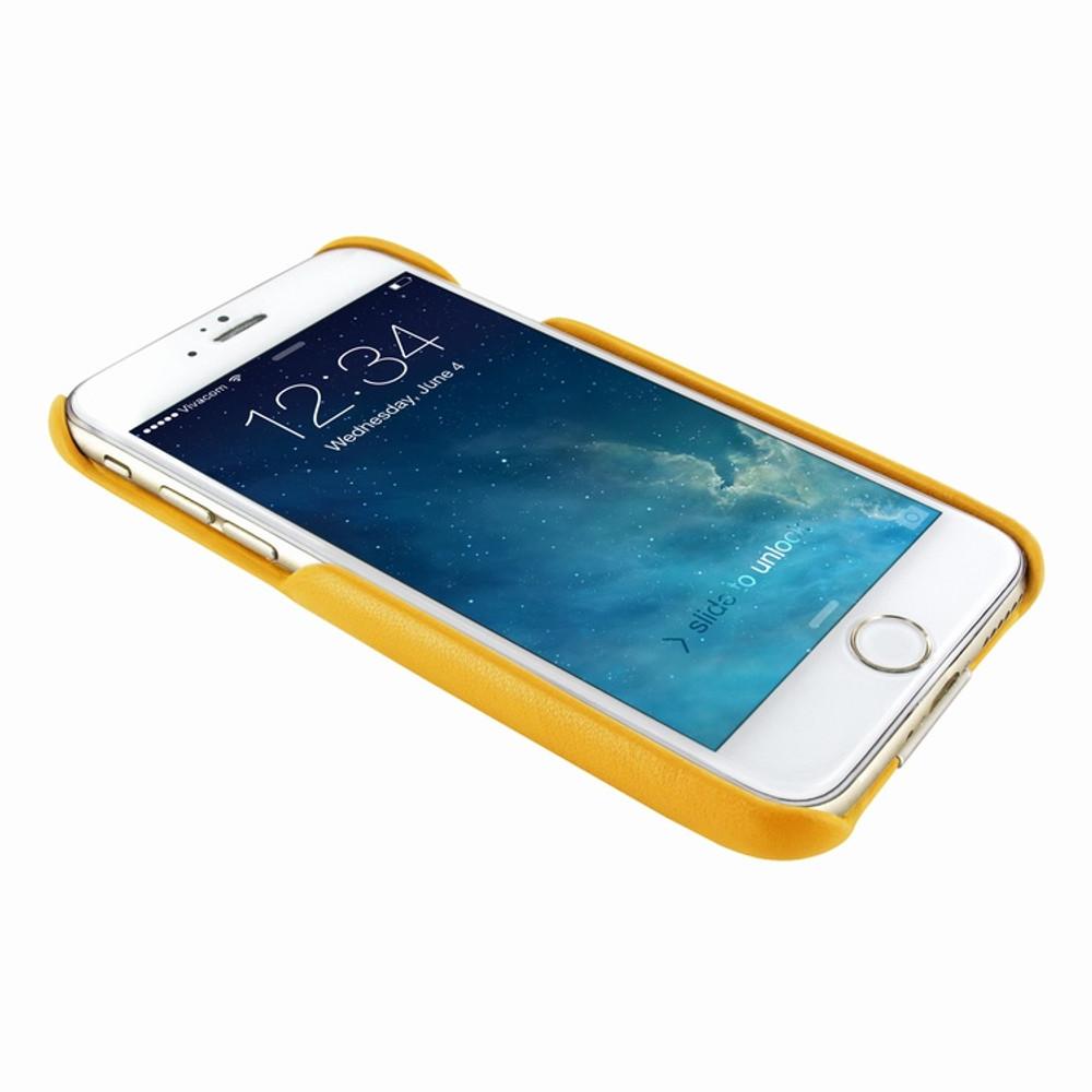 Piel Frama iPhone 7 / 8 FramaSlimGrip Leather Case - Yellow Cowskin-Crocodile