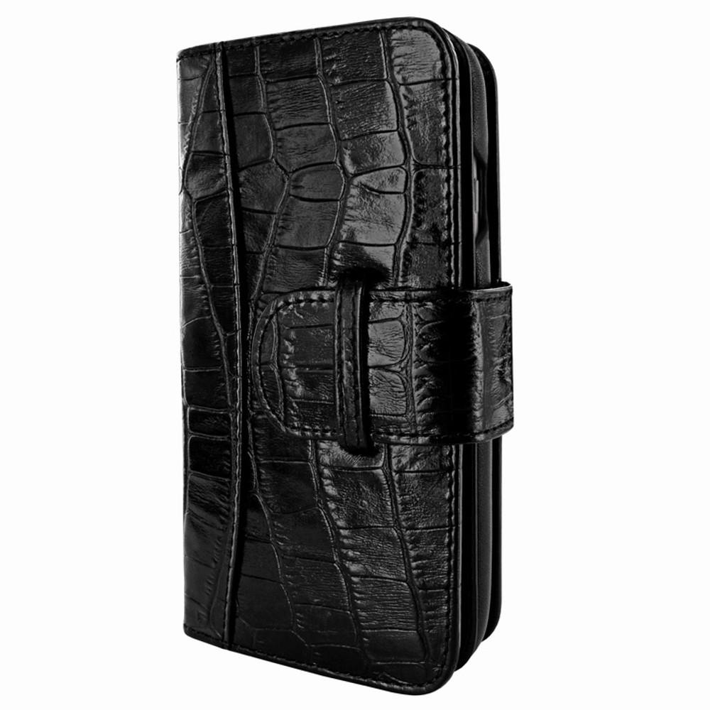 Piel Frama iPhone 7 / 8 WalletMagnum Leather Case - Black Cowskin-Crocodile