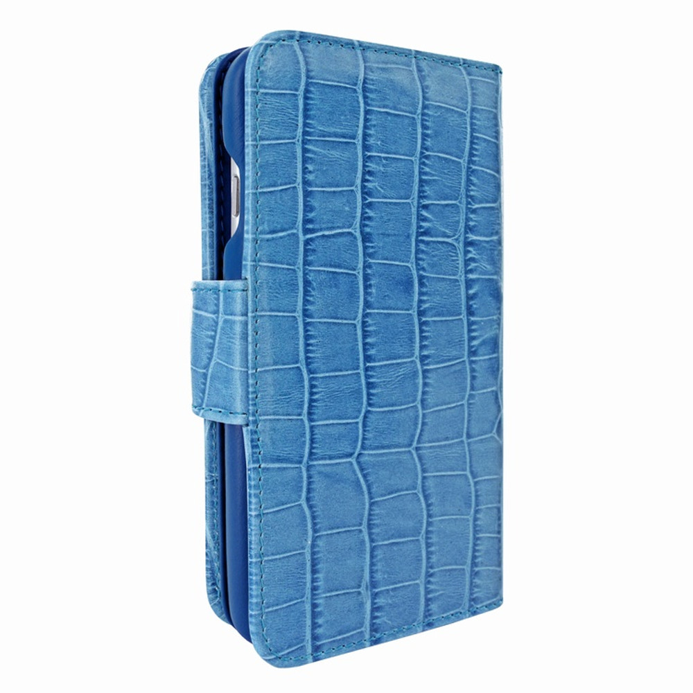 Piel Frama iPhone 7 / 8 WalletMagnum Leather Case - Blue Cowskin-Crocodile