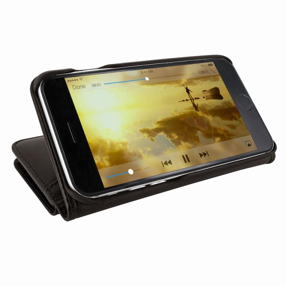 Piel Frama iPhone 7 / 8 WalletMagnum Leather Case - Brown