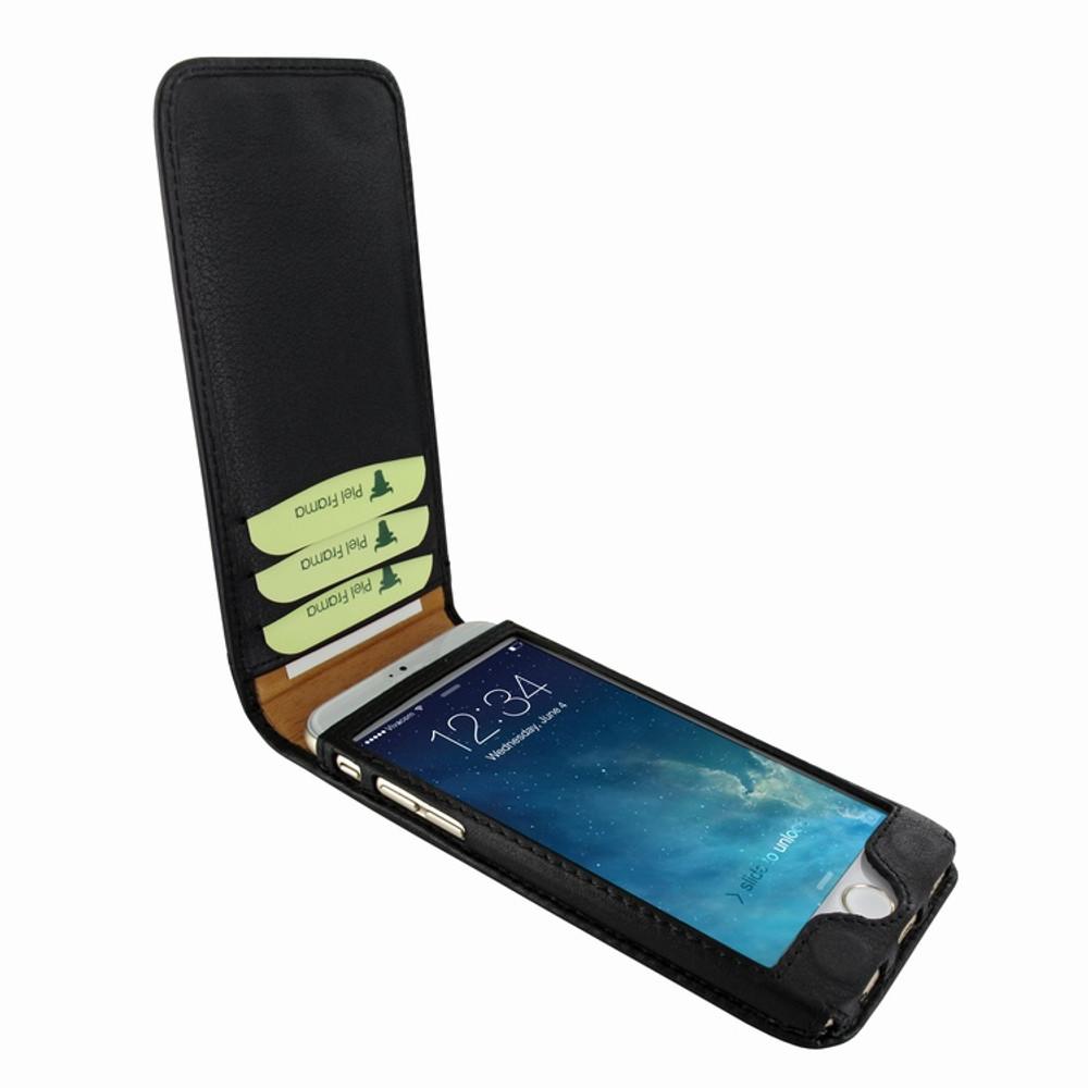 Piel Frama iPhone 7 Plus / 8 Plus Classic Magnetic Leather Case - Black Cowskin-Ostrich
