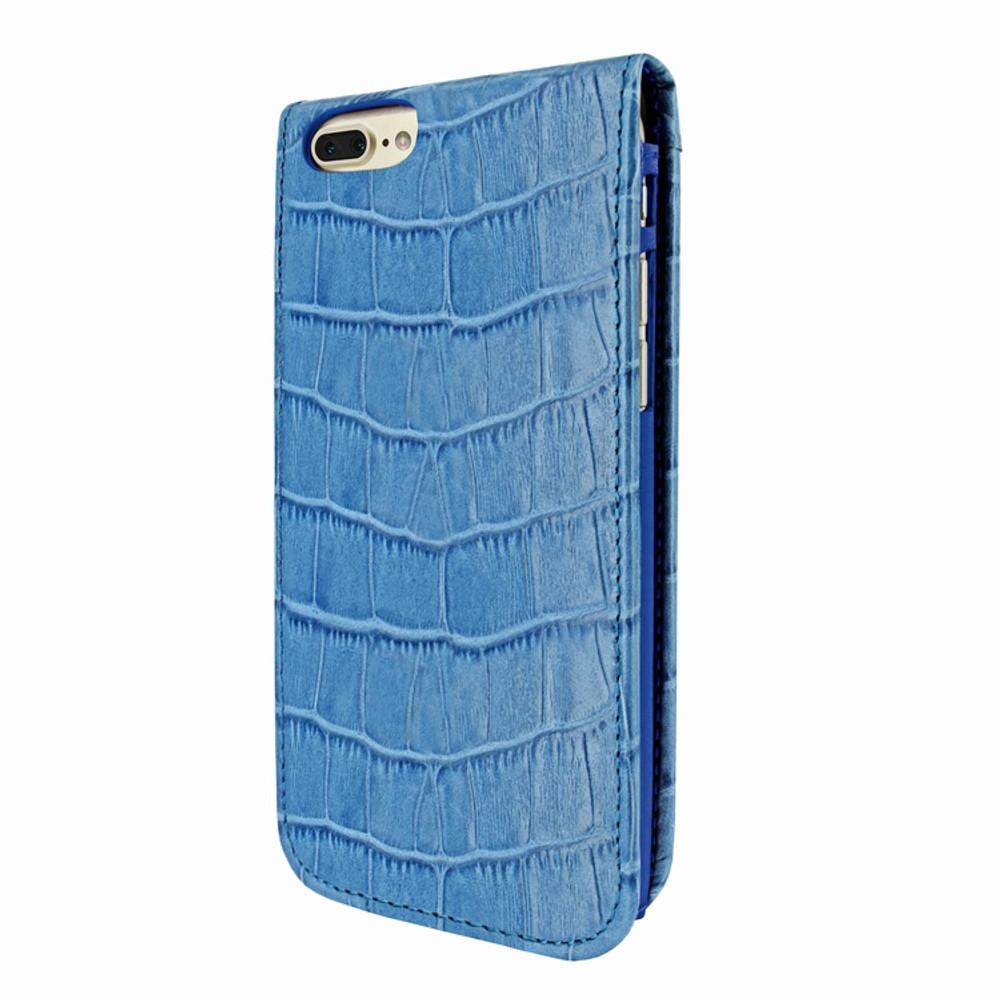 Piel Frama iPhone 7 Plus / 8 Plus Classic Magnetic Leather Case - Blue Cowskin-Crocodile