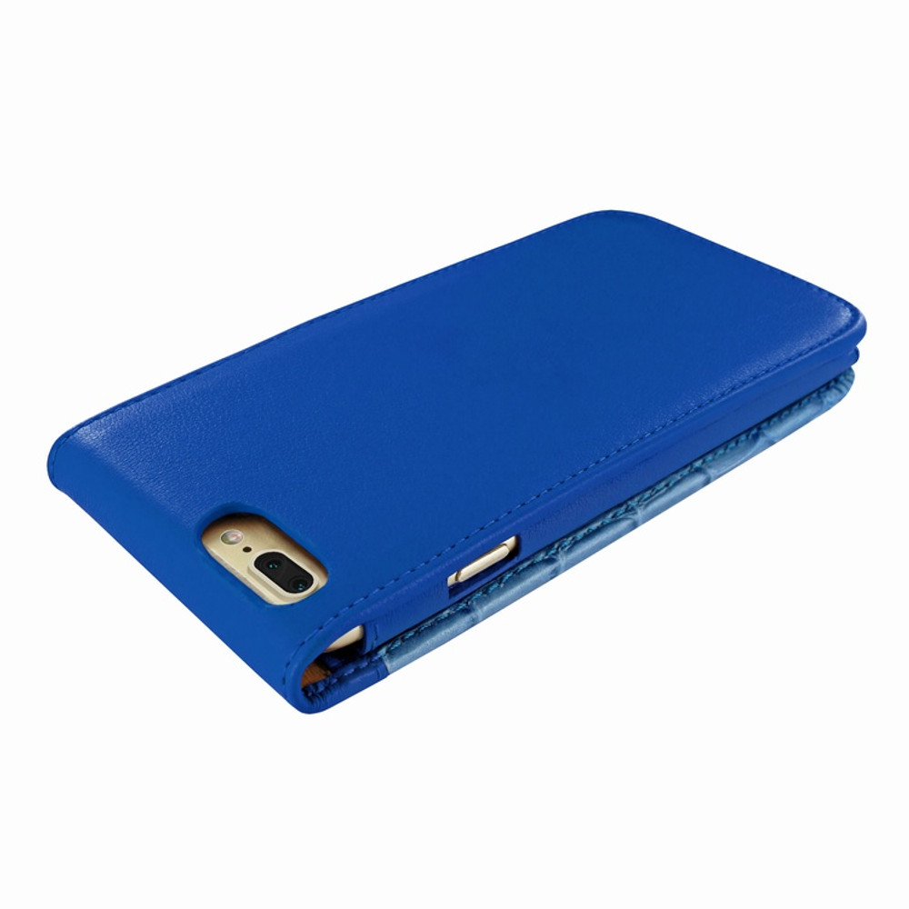 Piel Frama iPhone 7 Plus / 8 Plus Classic Magnetic Leather Case - Blue Swarovski Cowskin-Crocodile
