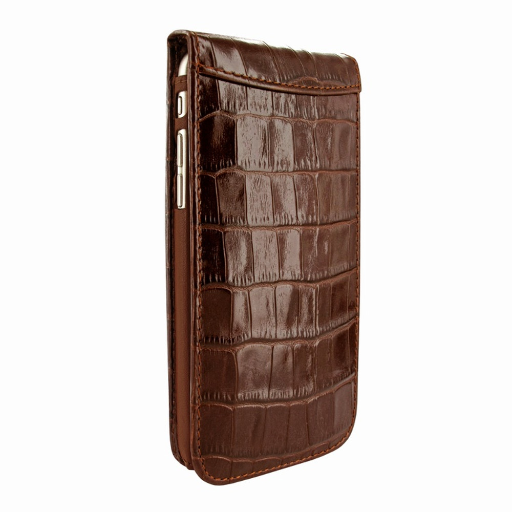 Piel Frama iPhone 7 Plus / 8 Plus Classic Magnetic Leather Case - Brown Cowskin-Crocodile