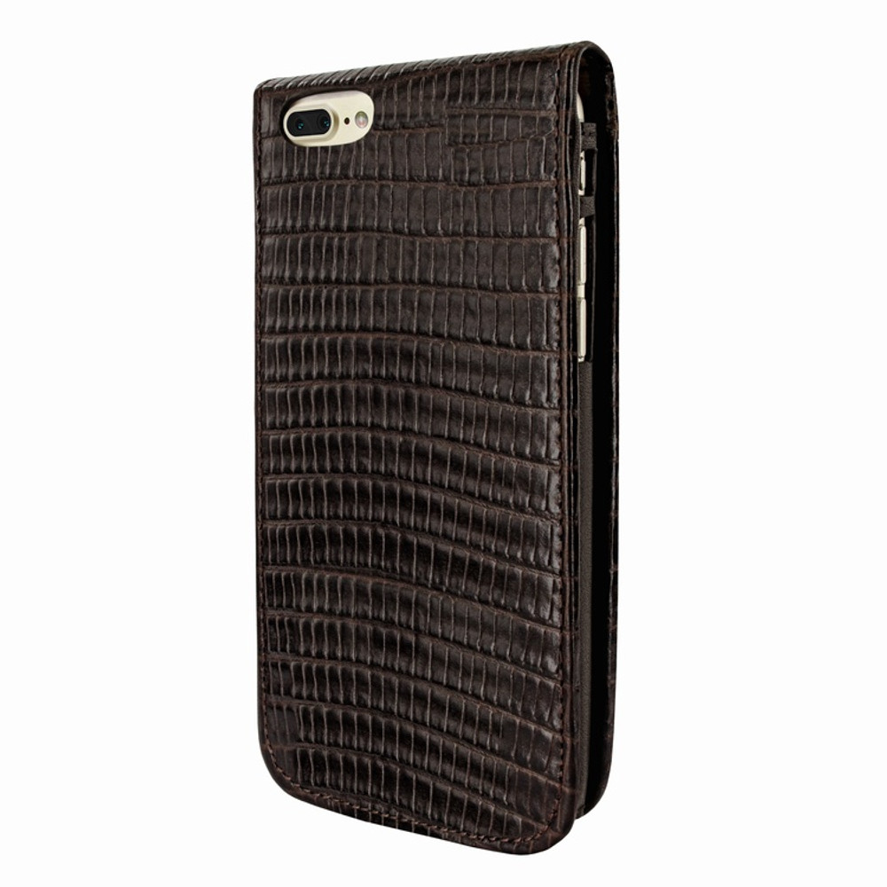 Piel Frama iPhone 7 Plus / 8 Plus Classic Magnetic Leather Case - Brown Cowskin-Lizard