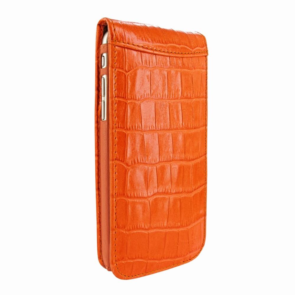 Piel Frama iPhone 7 Plus / 8 Plus Classic Magnetic Leather Case - Orange Cowskin-Crocodile
