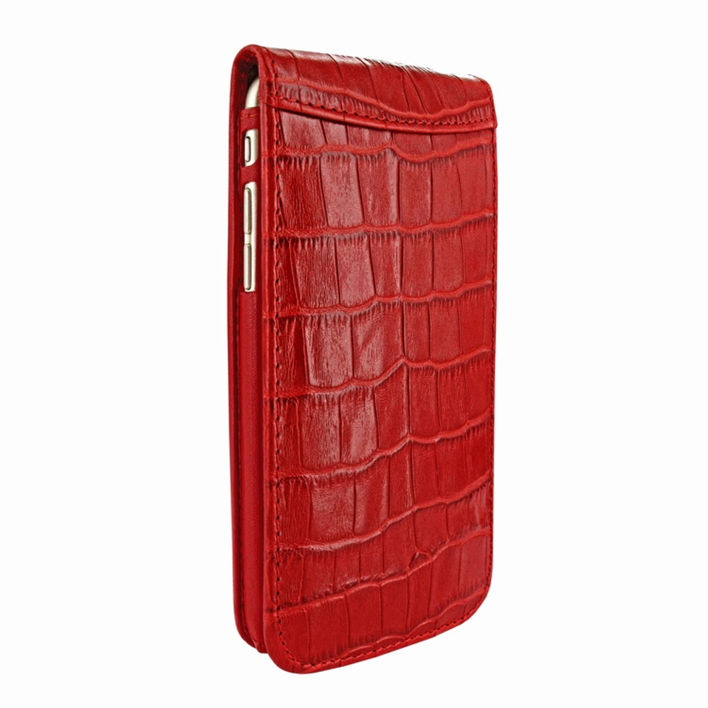 Piel Frama iPhone 7 Plus / 8 Plus Classic Magnetic Leather Case - Red Cowskin-Crocodile