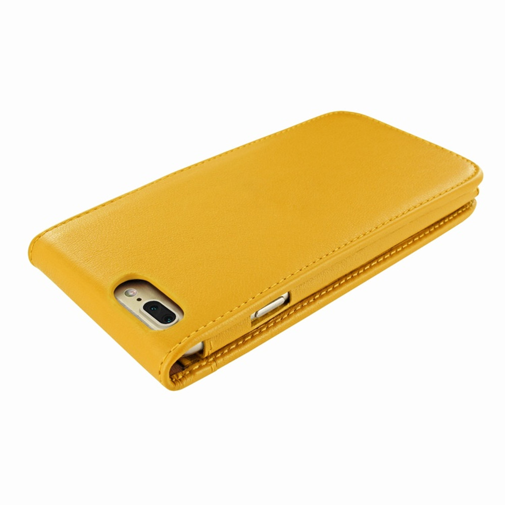 Piel Frama iPhone 7 Plus / 8 Plus Classic Magnetic Leather Case - Yellow