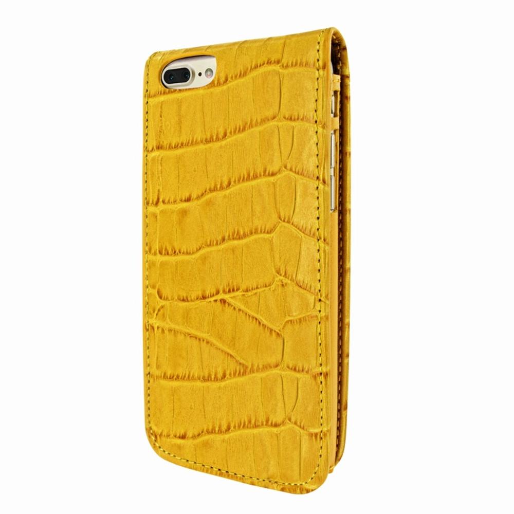 Piel Frama iPhone 7 Plus / 8 Plus Classic Magnetic Leather Case - Yellow Cowskin-Crocodile