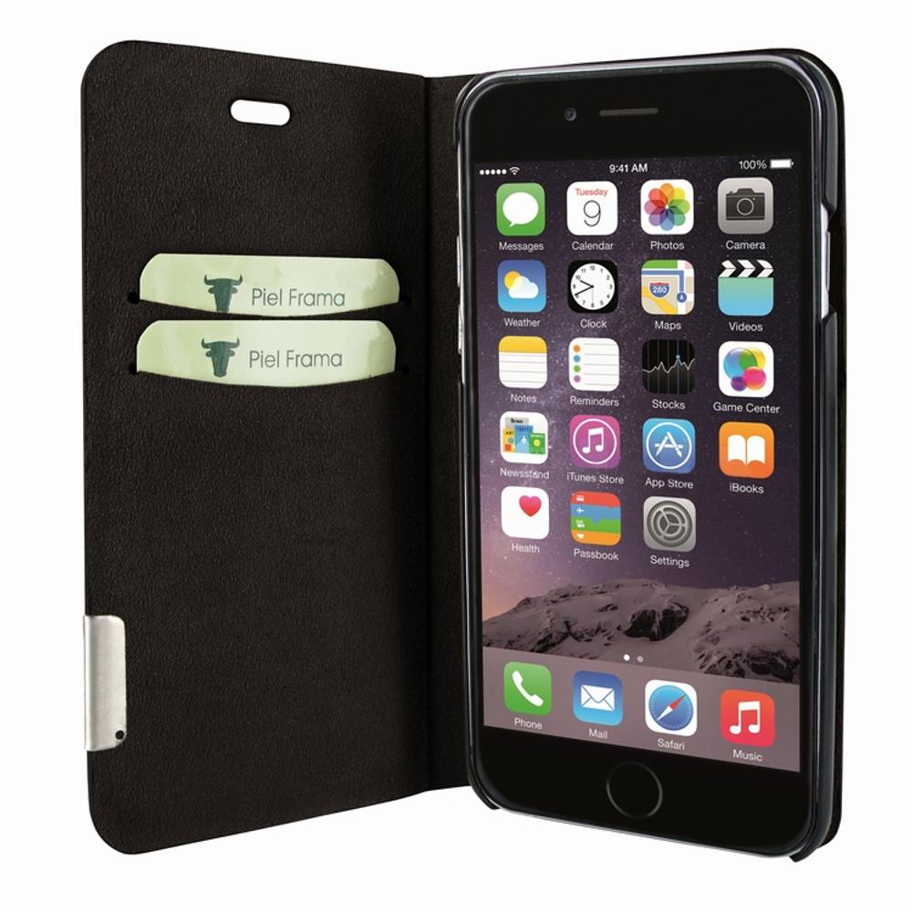 Piel Frama iPhone 7 Plus / 8 Plus FramaSlimCards Leather Case - Brown Cowskin-Lizard