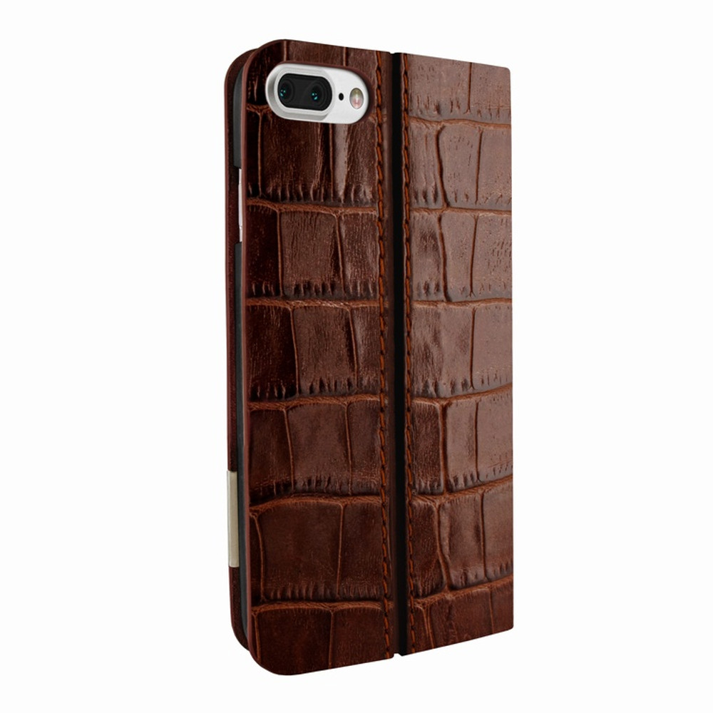 Piel Frama iPhone 7 Plus / 8 Plus FramaSlimCards Leather Case - BrownCowskin-Crocodile
