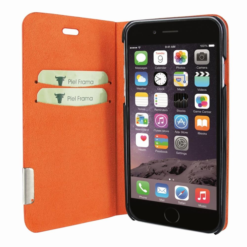 Piel Frama iPhone 7 Plus / 8 Plus FramaSlimCards Leather Case - Orange Cowskin-Crocodile