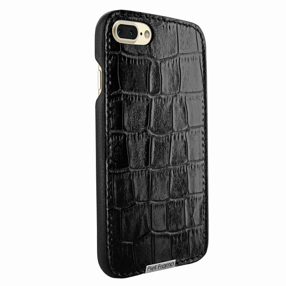 Piel Frama iPhone 7 Plus / 8 Plus FramaSlimGrip Leather Case - Black Cowskin-Crocodile