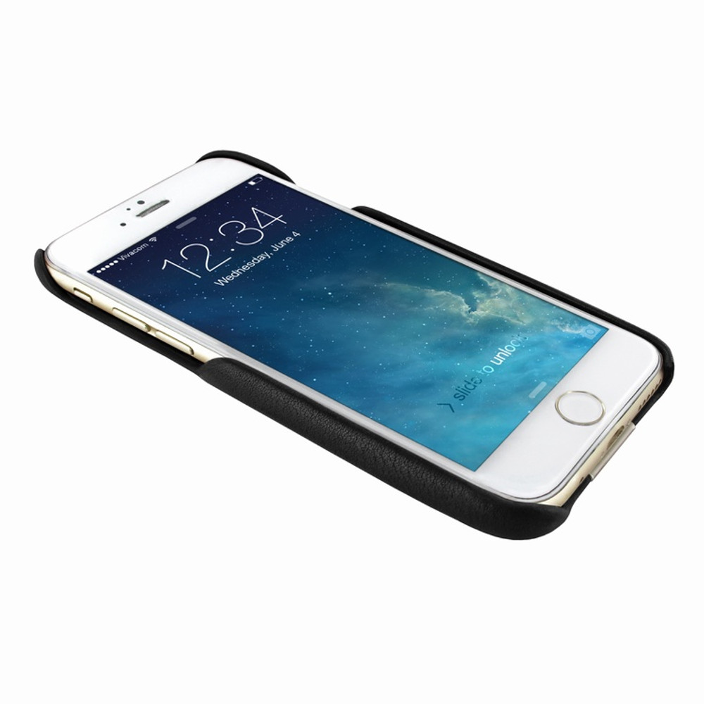 Piel Frama iPhone 7 Plus / 8 Plus FramaSlimGrip Leather Case - Black Wild Cowskin-Crocodile