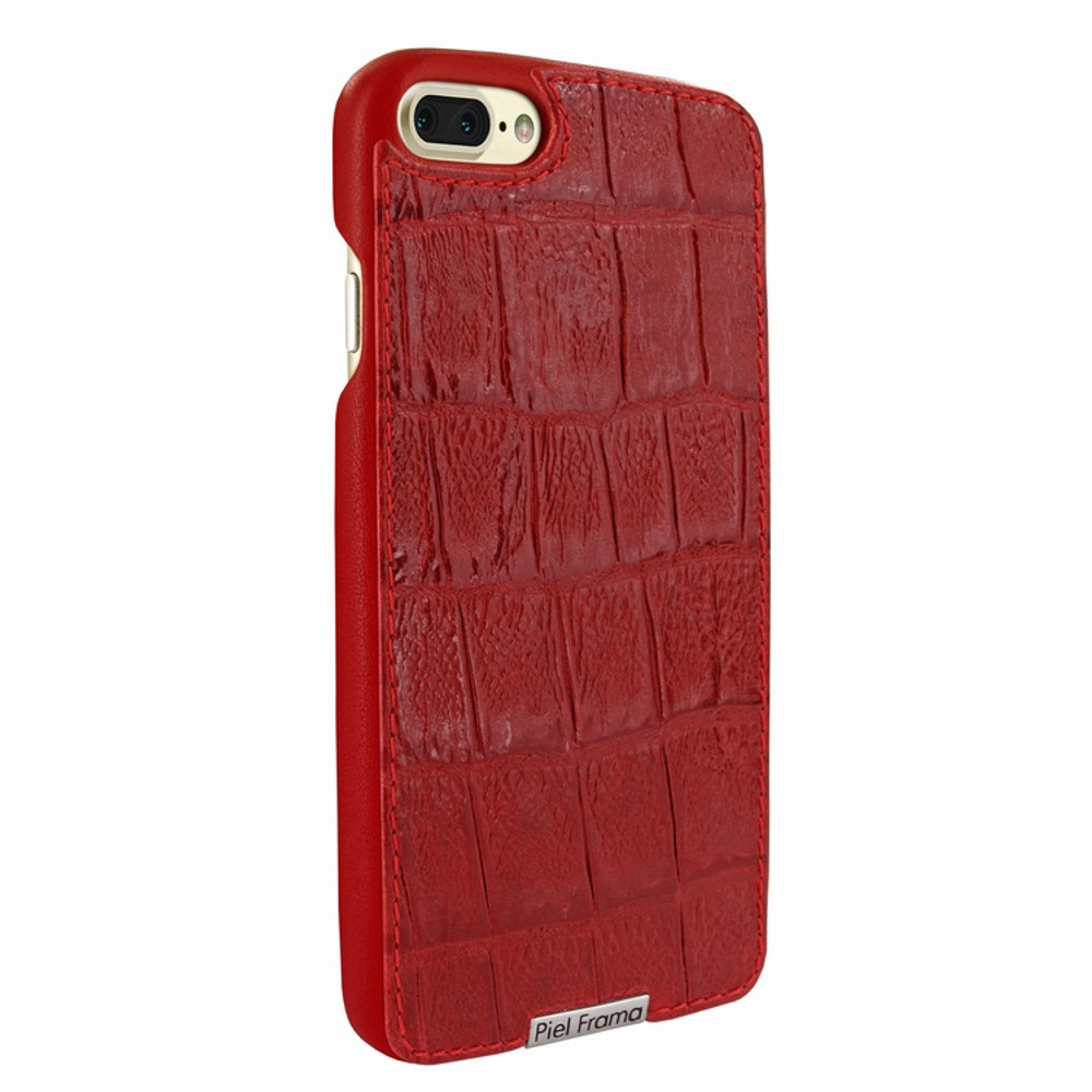 Piel Frama iPhone 7 Plus / 8 Plus FramaSlimGrip Leather Case - Red Wild Cowskin-Crocodile