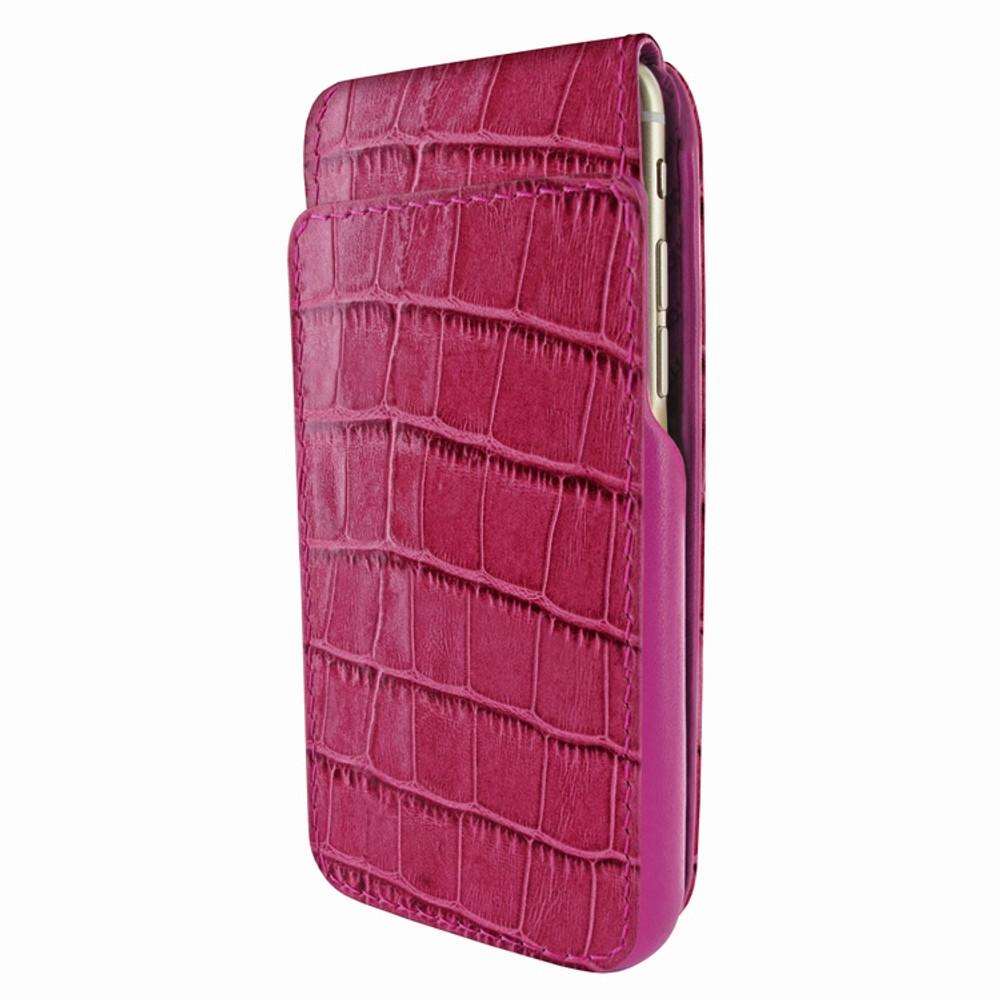 Piel Frama iPhone 7 Plus / 8 Plus iMagnumCards Leather Case - Fuchsia Cowskin-Crocodile