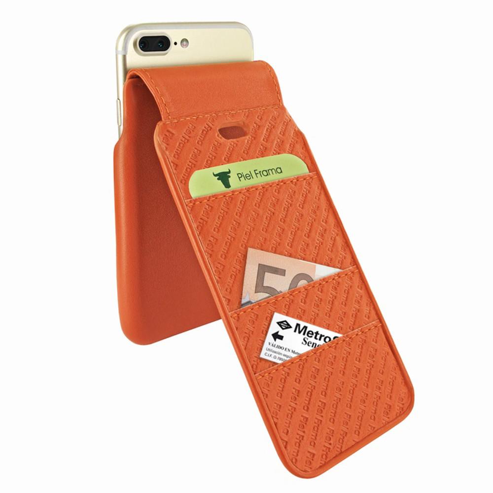 Piel Frama iPhone 7 Plus / 8 Plus iMagnumCards Leather Case - Orange