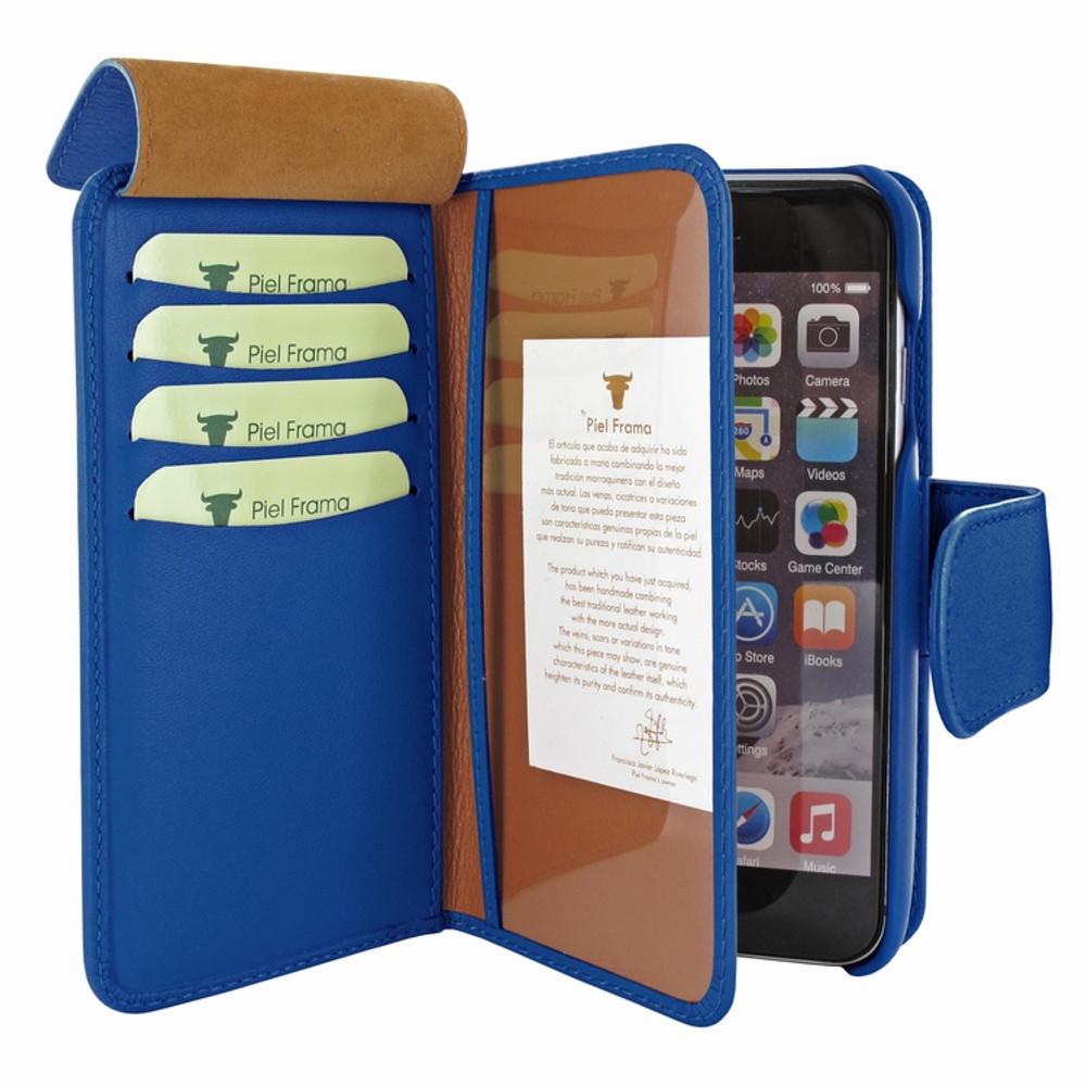 Piel Frama iPhone 7 Plus / 8 Plus WalletMagnum Leather Case - Blue