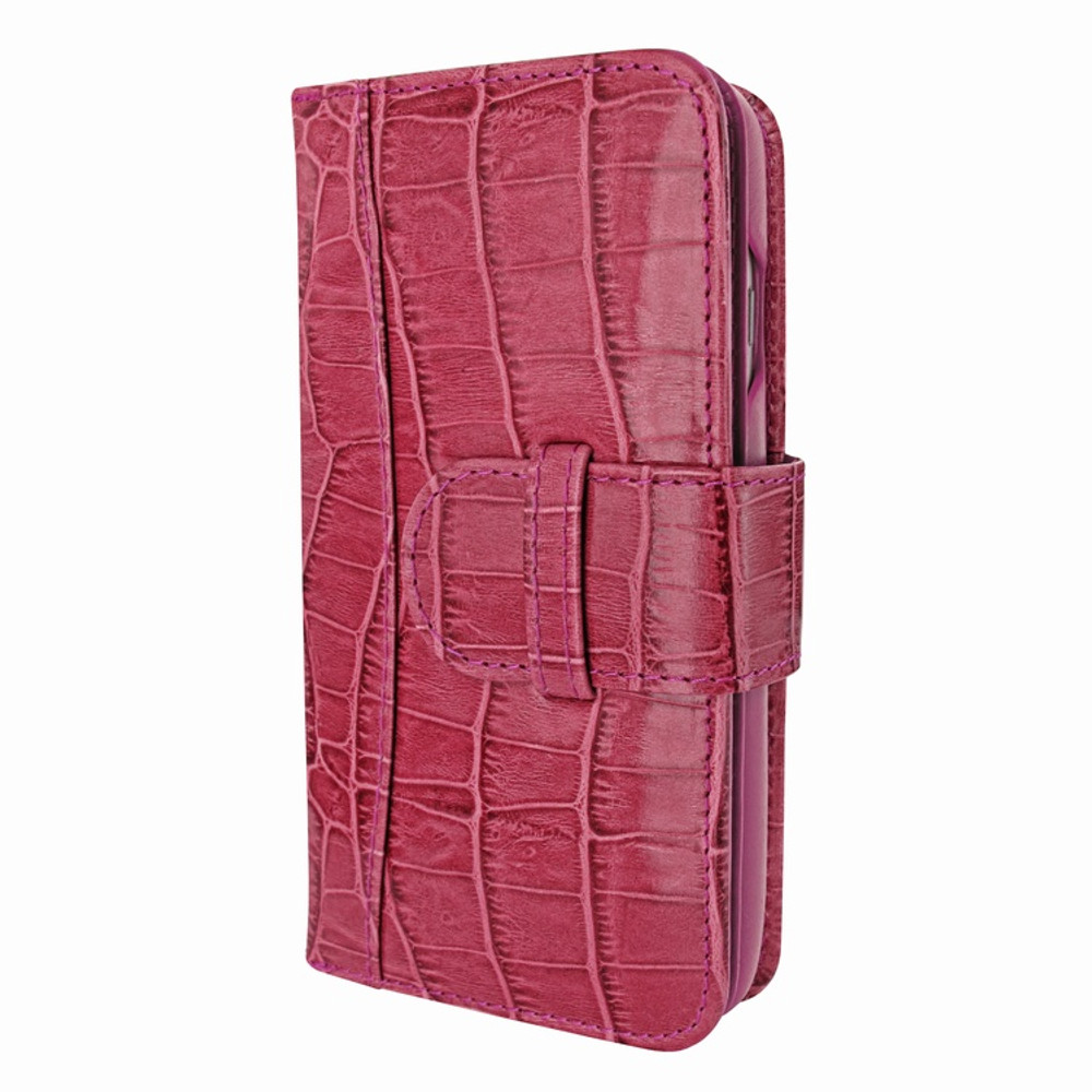 Piel Frama iPhone 7 Plus / 8 Plus WalletMagnum Leather Case - Fuchsia Cowskin-Crocodile