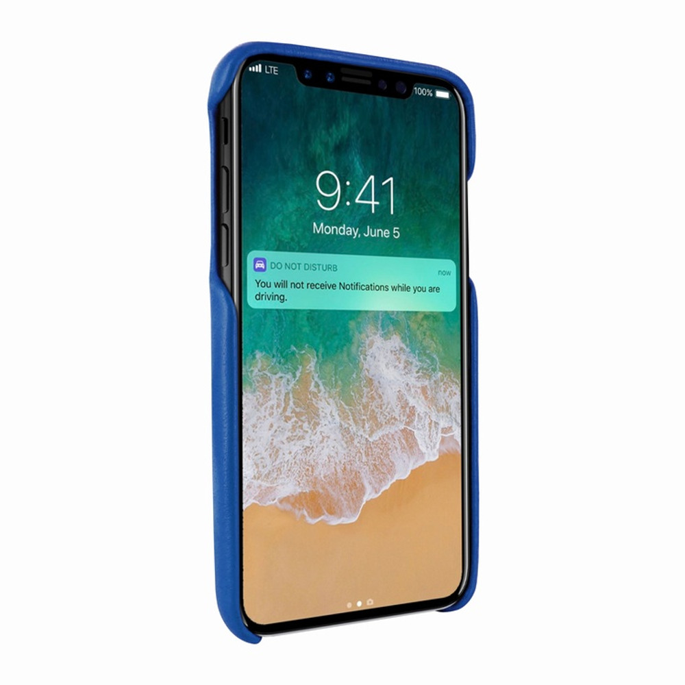 Piel Frama iPhone X / Xs FramaSlimGrip Leather Case - Blue