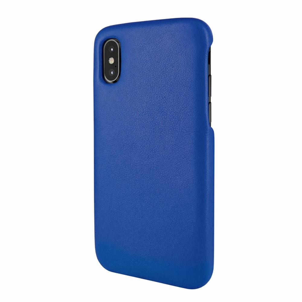 Piel Frama iPhone X / Xs FramaSlimGrip Leather Case - Blue
