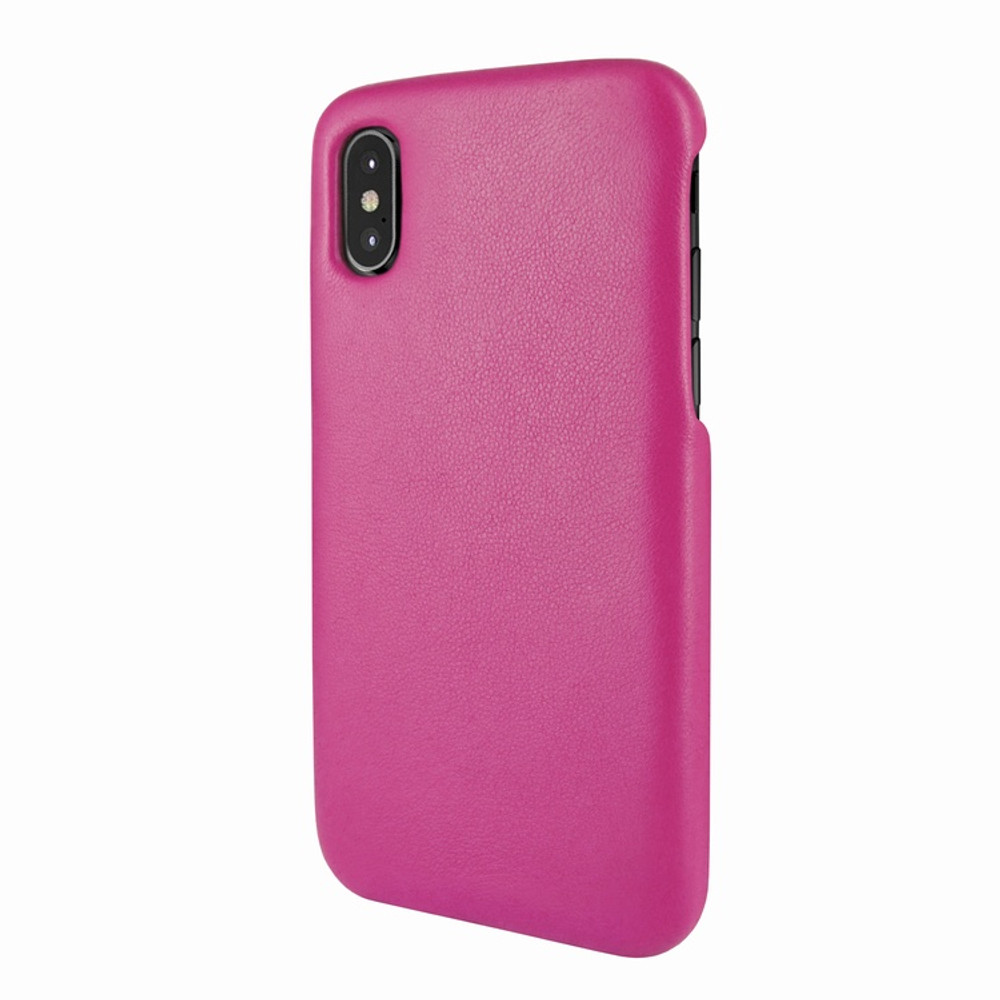 Piel Frama iPhone X / Xs FramaSlimGrip Leather Case - Fuchsia
