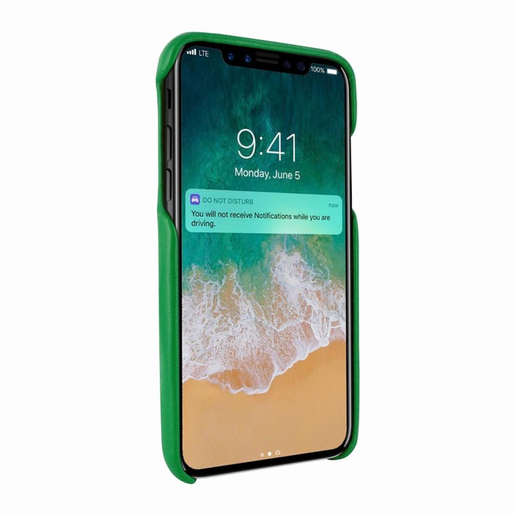 Piel Frama iPhone X / Xs FramaSlimGrip Leather Case - Green